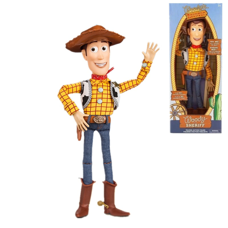 Disney Pixar Toy Story 4 Sherif Woody cowboy Can Talk Sound and light Buzz Lightyear toys Jessie Action figure Toys For Children