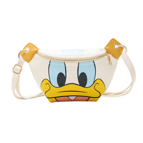 Disney lady  girl messenger bag Minnie Donald Duck Chest bag boy cute Belt bag