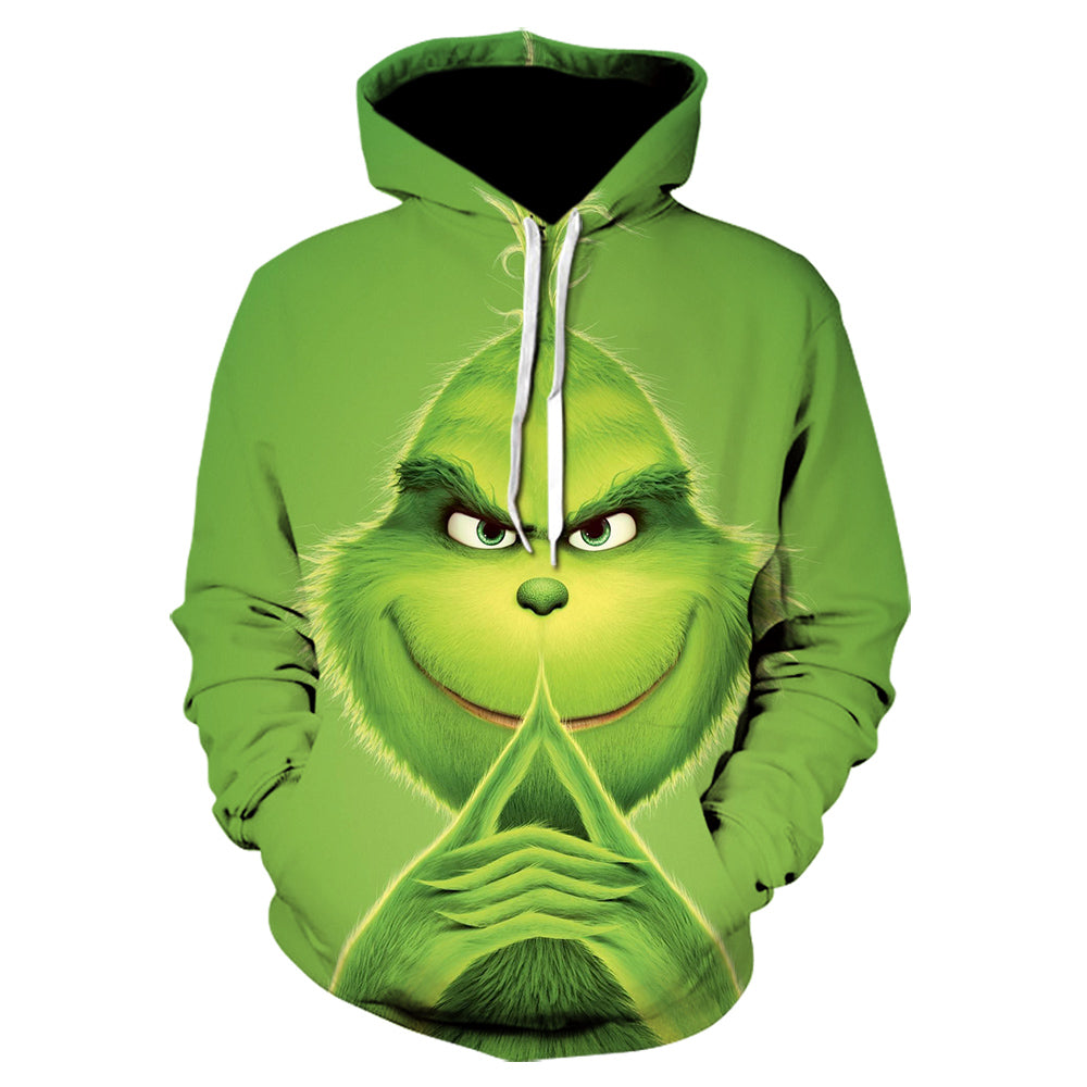 New Movie The Grinch 3d Printing Sweatshirt Hip Hop