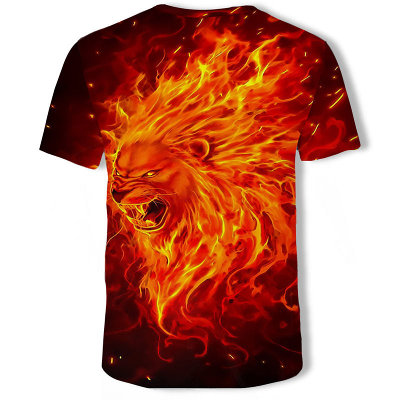 Men's T-Shirts 3D Printed Animal Tiger t shirt Short Sleeve Funny Design Casual Tops Tees Male Halloween t shirt Asian sz 6XL