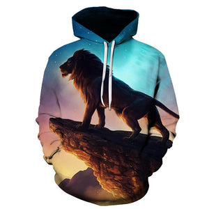 Newest Lion King 3D Printed Hooded Sweatshirts
