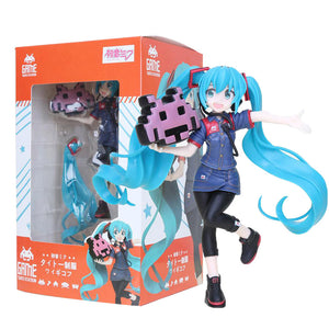 20cn Game Taito Station Hatsune Miku Staff uniform Ver PVC Figure Model Dolls VOCALOID Miku Toys Gifts