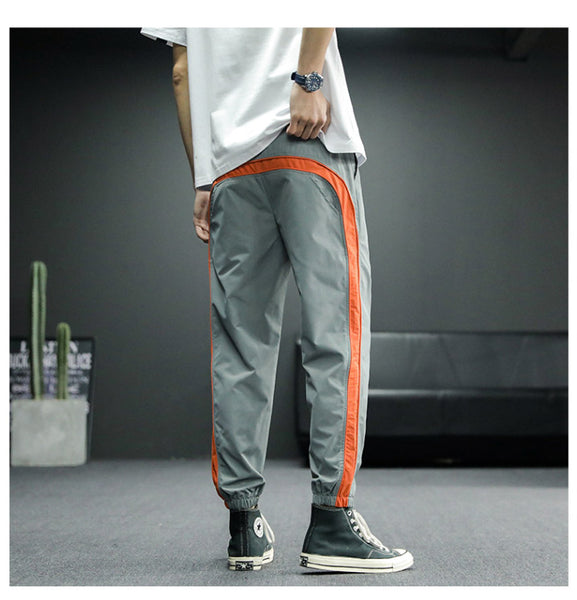 Ribbons Joggers Pencil Pants Men's Hip Hop Sweatpants Men Harem Casual Trousers