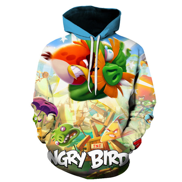 New Style 3D Printed The Angry Birds Movie 2 Hooded Sweatshirts Hot Sale