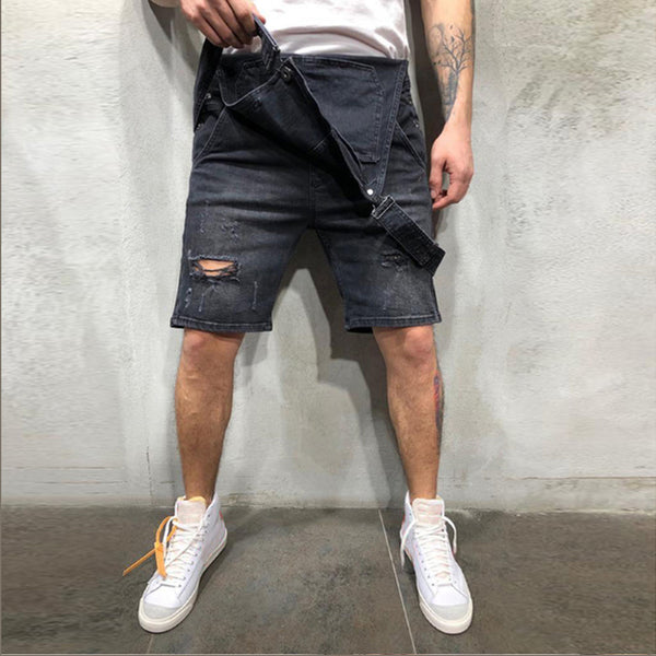 2020 Oversize Fashion Men's Ripped Jeans Jumpsuits Shorts Summer