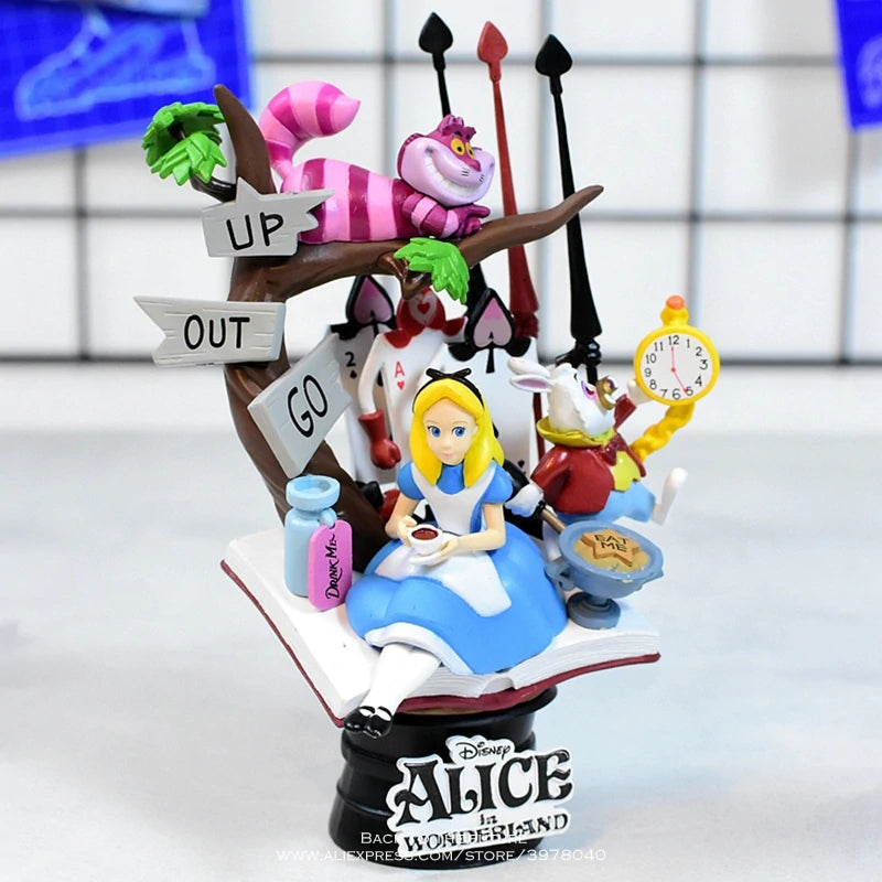 Disney Alice in Wonderland princess 16cm Action Figure Anime Mini Decoration PVC Collection Figurine Toy model for children gift