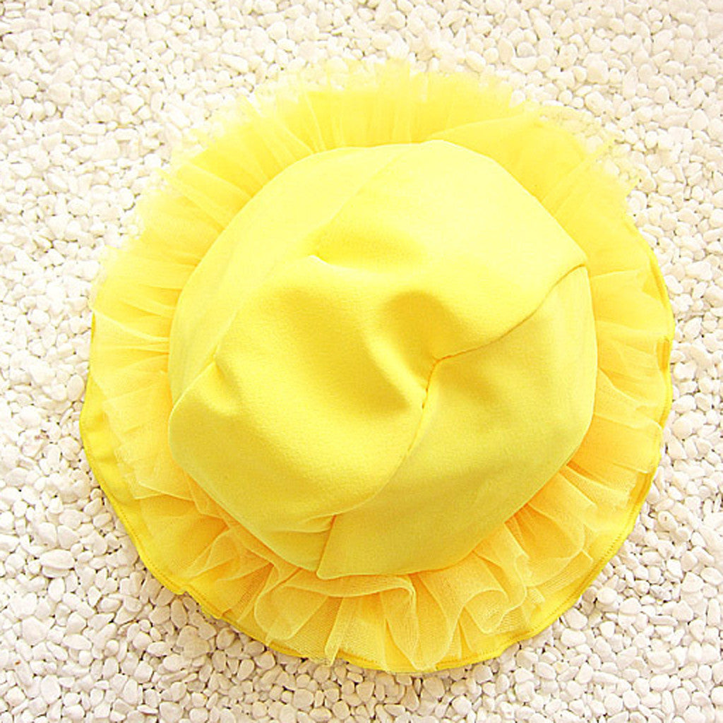 Swimming Cute Bow Sun Hat Baby Girls Beach Swimsuit Girls Swimwear