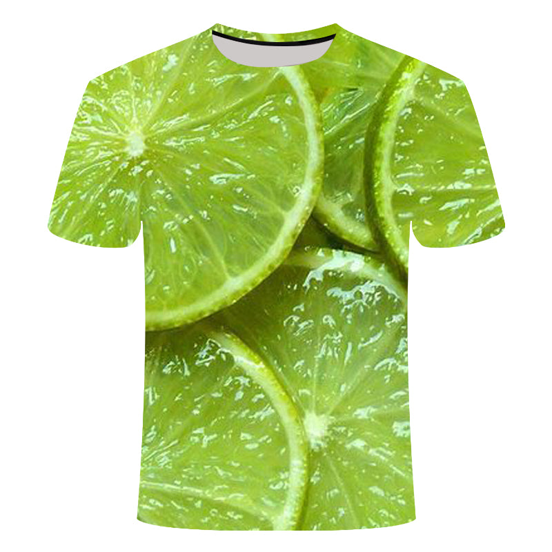 2019 New Summer Casual 3D T-Shirt Men Fruit Print Cool Short-Sleeved Summer t Shirt Tshirt mens shorts streetwear homme hip hop