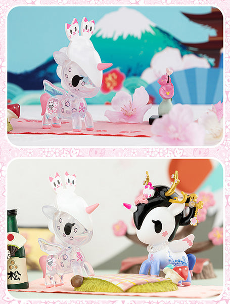 Special Offer Unicorn Blind Box Tokidoki Cherry Blossoms Unicorn Series Blind Box Cute Doll Action Toy Figures Mystery Gift