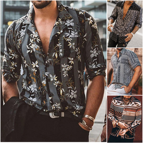 Neck Casual Shirts Blouse Hawaii Aloha Party Summer Holiday Fancy Tops