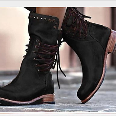 Women's Boots Comfort Shoes Flat Heel Round Toe