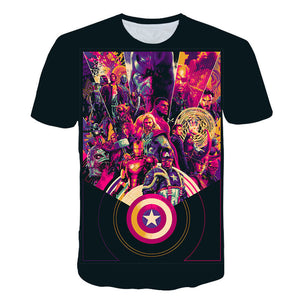 2019 New design t shirt men/women marvel Avengers Endgame 3D print t-shirts Short sleeve Harajuku style tshirt tops AS SIZE