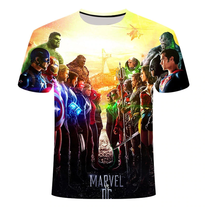 2019 New design t shirt men/women marvel Avengers Endgame 3D print t-shirts Short sleeve Harajuku style tshirt tops