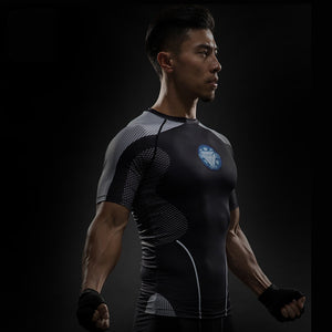 TUNSECHY Short Sleeve 3D T Shirt Men T-Shirt Male Tee Captain America Superman tshirt Men Fitness Compression Shirt Punisher MMA