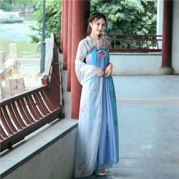 Improvement Of Tang Dress And Traditional Chinese Dress With Chinese Element Fairy Embroidered Daily Han Dress