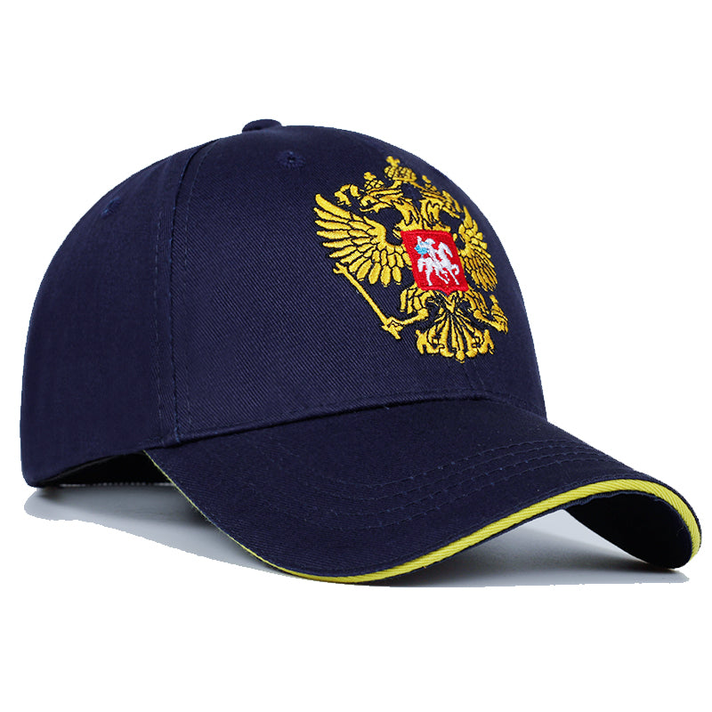 New Neutral Cotton Outdoor Baseball Cap Russia Badge Embroidery Snapback