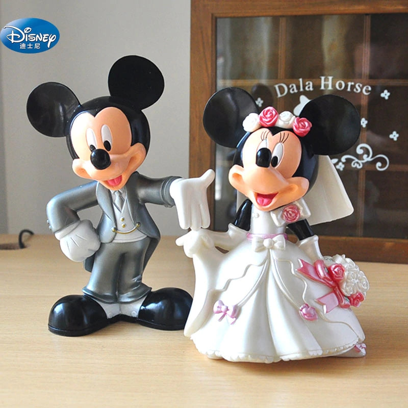 7 cm Minnie Mickey Mouse marry Action disney China red dolls kids Toy Figures wedding present kids gift