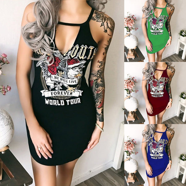 Plus Size 5XL Summer Women Bandage Dress 2018 Elegant Letter Print Sleeveless Hollow Out Mini Dresses Sexy Bodycon Dress Clothes