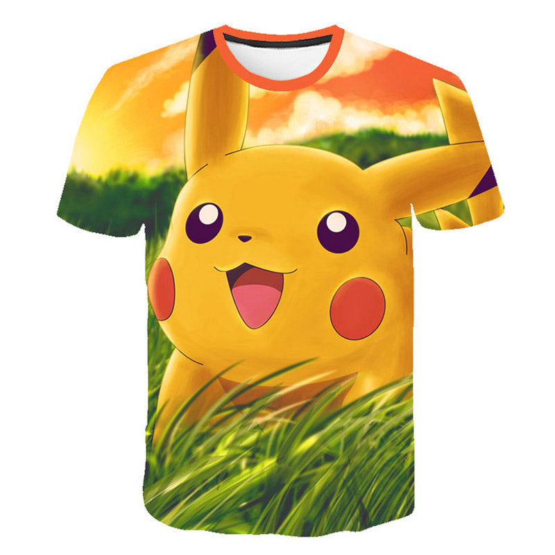 Pokemon Detective Pikachu 3D Printed Children Spider man Summer Short Sleeve T shirt 2019 NEW Streetwear kids T shirts