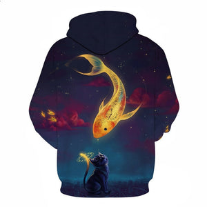 3D Tropical Fish Funny Hoodies For Fishinger Fisherman Hip Pop Jacket
