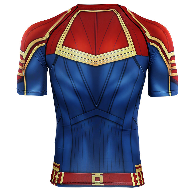 3D Printed T shirts Men Captain Compression Shirts Raglan Sleeve 2019 Short Sleeve Comics Cosplay Costume Cloth Print Tops Male