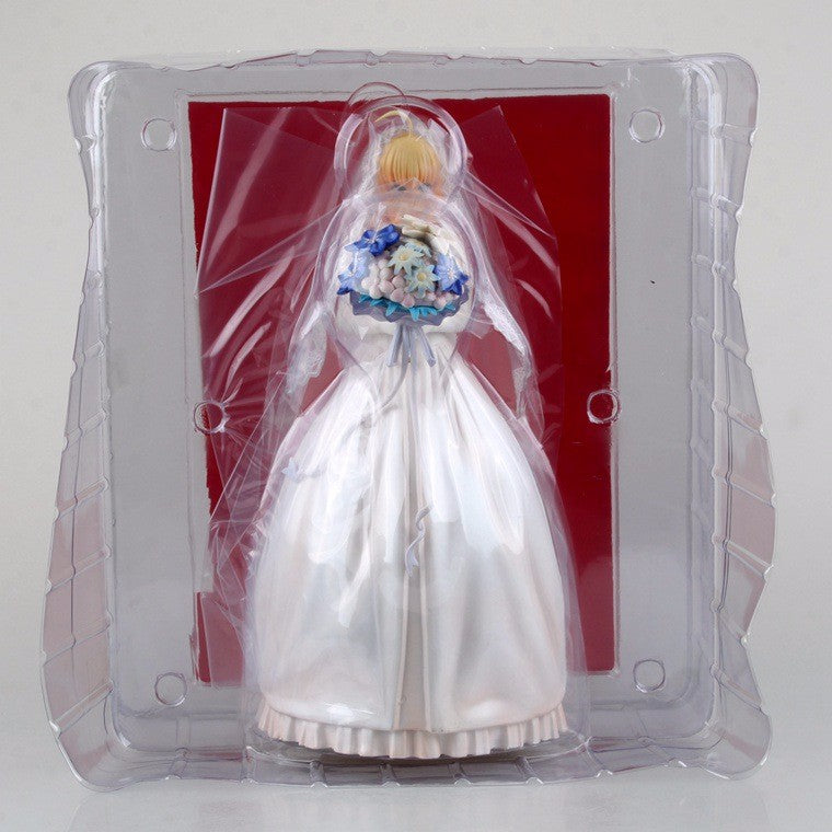 Fate stay night Model Saber Wedding dress 10th Action Figure Collectible Model doll toy Gift