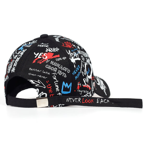 Graffiti printing Baseball Cap Outdoor cotton Shade Hat