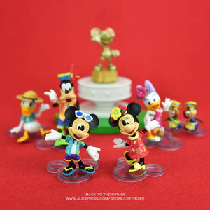 Disney Mickey Mouse Minnie 14cm Action Figure Posture Anime Decoration Collection Figurine Toy model for children gift