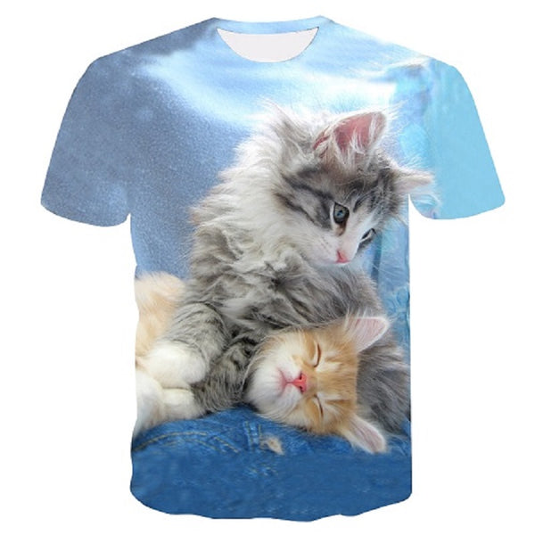 2019 Womens Brand Clothing Summer Women T Shirt Short Sleeve O-neck Casual Funny off white Cat Tops Tees Female Ladies T-Shirt