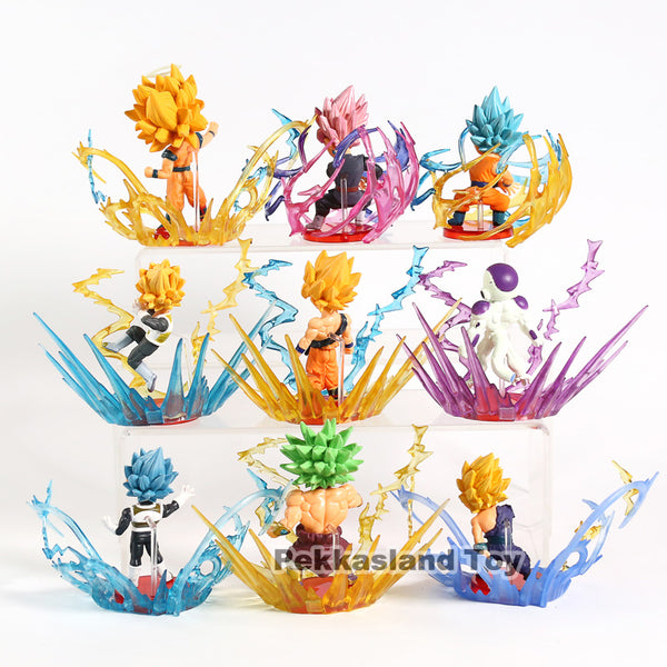9pcs Dragon Ball Super WCF Burst World Collectable Vegeta Gohan Frieza Broly Son Goku Gokou Hero Figure Model Toys