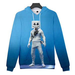 DJ Marshmallow Wild 3D Print Sweatshirt Hoodies Cosplay Unisex Men Hip Hop Leisure Streetwear Hoodies Clothes Costumes