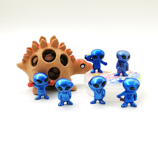 Mini 6pcs/set PVC Alien Toy ET Cartoon character ornament Action Figure Doll UFO Anime Brinquedos Kids Toys For Children Gift