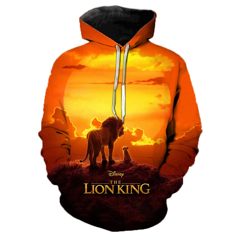Lion King 3D Printed Hooded Sweatshirts