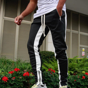 Zipper Sports Running Fitness Trousers Men Gym Sports Jogger Pants Outdoor Streetwears