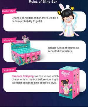 Robotime Nanci Blind Box Action Figure China Style Character Model for Girls Birthdays Gift ZAXX0