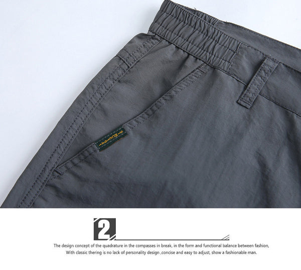 Waterproof Quick Dry Pants Man Multi Pockets Thin Breathable Trousers Casual Sportswear