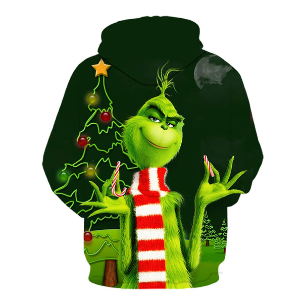2019New hot man's 3d Green Monster Grinch mascot hoodie grinch Sweatshirt christmas stole for girls stray kids hoodies 6xl