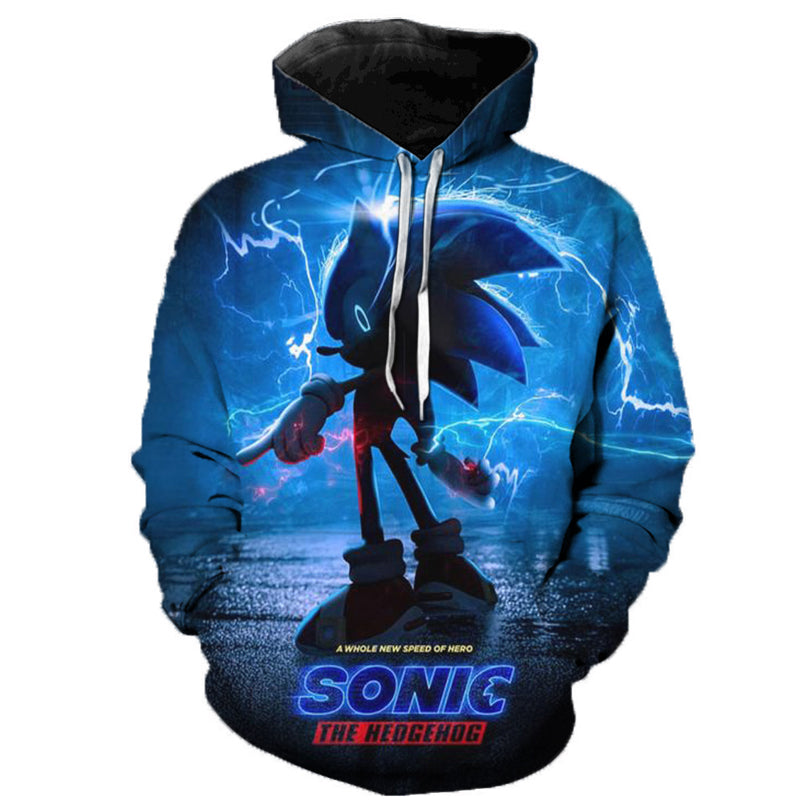 New Arrival Anime Sonic the Hedgehog 3D Printed Hooded Sweatshirts Men Women Fashion Casual Pullover Funny Streetwear Hoodies