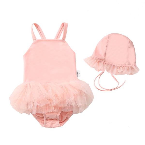 Swimsuit Suspender Toddler Bikini With Hat Infant Bathing Suit Clothes Baby Sunsuit Summer
