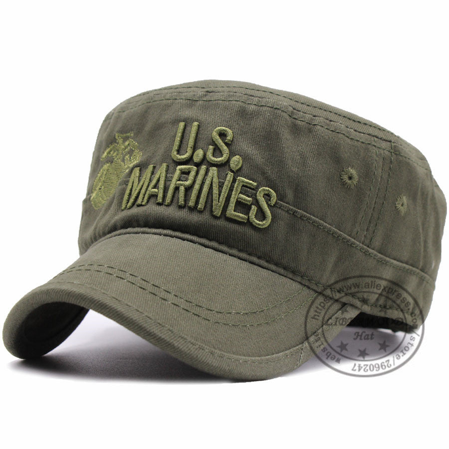 United States US Marines Corps Cap Hat USMC Camouflage flat top hat