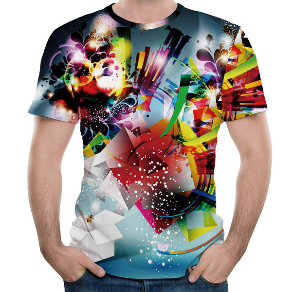 Personality Men's 3D Formula Print Casual Slim Short-sleeved Shirt Top Blouse Summer Tops Tees Shirt Camisa