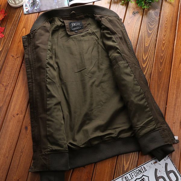 Military Jacket Men Spring Autumn Mens Coat Casual Warm Bomber