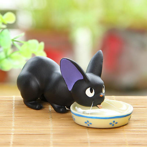 Miyazaki Anime Kiki's Delivery Service Cute Mini Black Cat Resin Action Figure Black JiJi Cat Toys Collection Model Home Decor