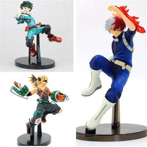 My Hero Academia Todoroki Shoto Izuku Midoriya Deku Bakugou Katsuki 3th Ver. PVC Action Figure No Hero Collectible Model