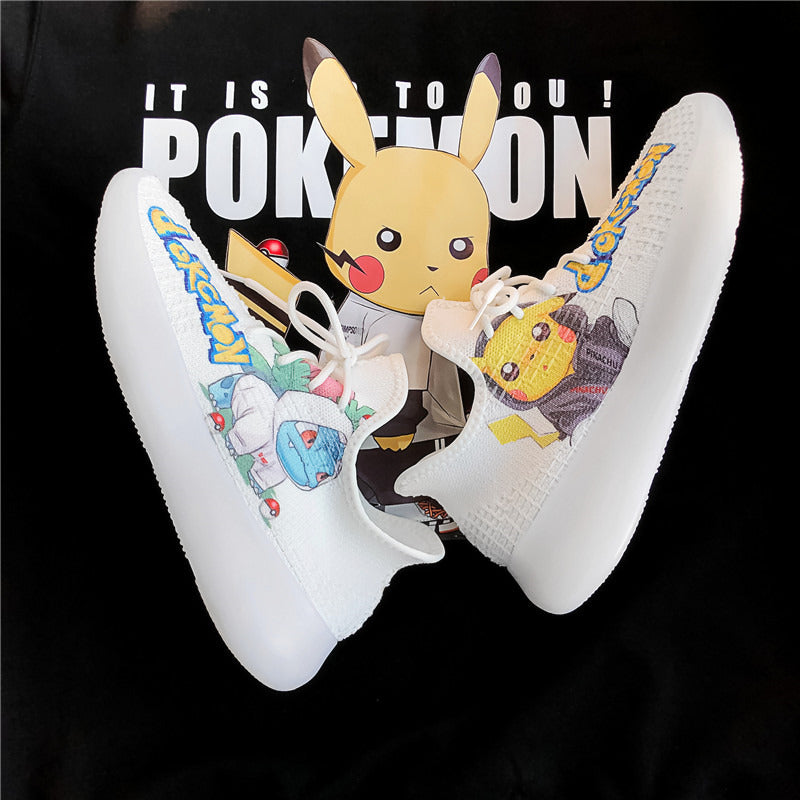 Picachu animation co branded shoes sports leisure dad sans coconut men's shoes Korean version of all-around trend tennis shoes