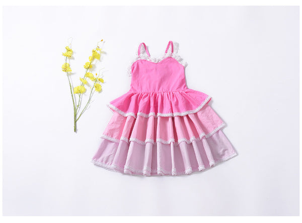 Girl Dresses Baby Princess Style Girls Sleeveless Layered  for Kids Cake Party  Children Clothes