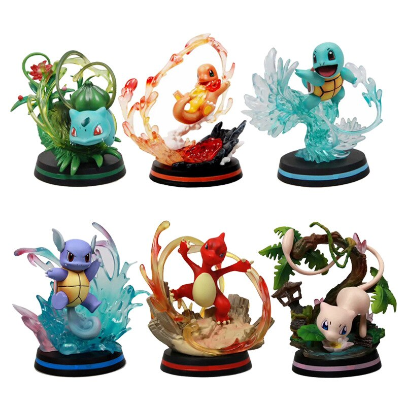 POKEMON Charmander Bulbasaur Mewtwo Action Figure Pocket Monster Pikachu Poké Model One Piece Collect Decoration Toy For Kids