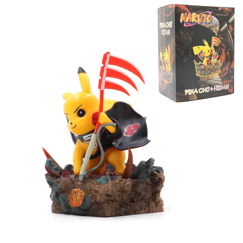 POKEMON HIDAN Toy Pikachu Action Figure Ninja Anime cosplay Pocket Monster Poké Model Collect Decoration Toy For Kids Gift