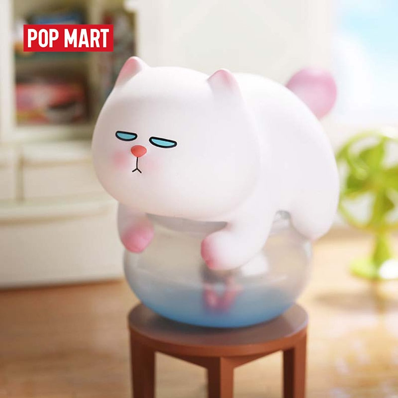 POPMART VIVI CAT Lazily Lying Prone cat series Blind Box Doll Binary Action Figure Birthday Gift Kid Toy