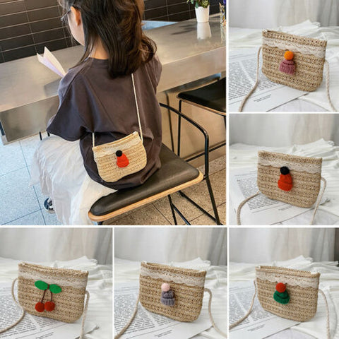 Bags Crossbody Children Kid Girl Straw Shoulder Bag Handbag